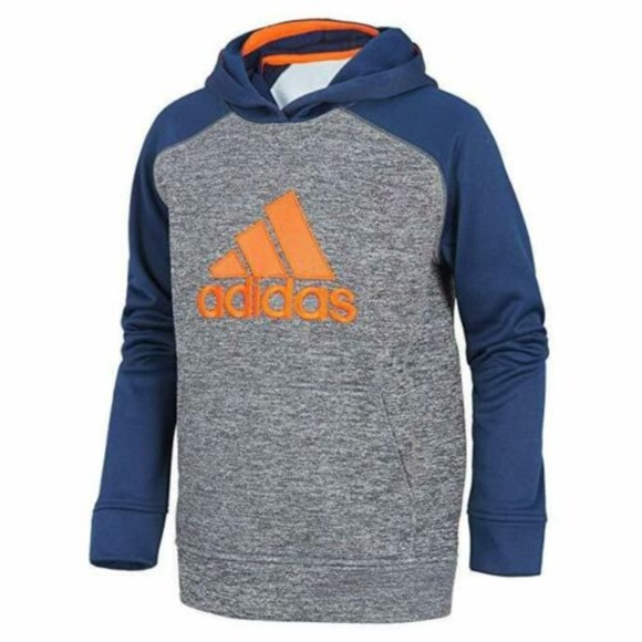 adidas Other - Adidas Boys' Athletic Pullover Hoodie( Navy/Orang